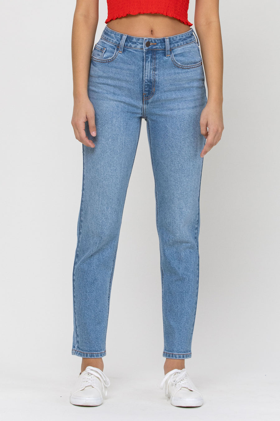 High Rise Slim Straight