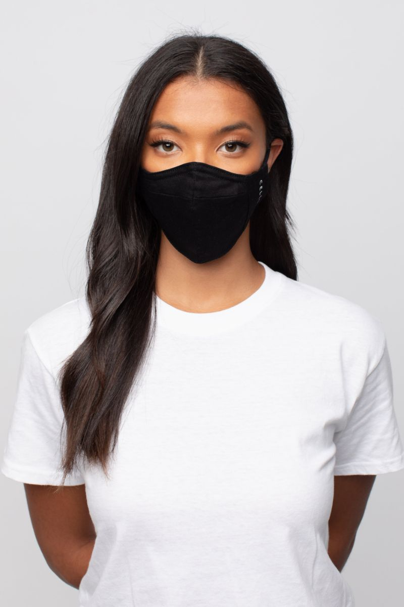 Solid black Mask (2PCS)