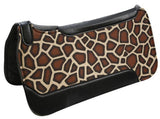 "Showman ® 30"" x 32"" Giraffe Design saddle pad"