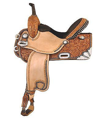 "15"", 16"" Tex Tan Silver Show Racer, Barrel Racing  MPN 292-229"