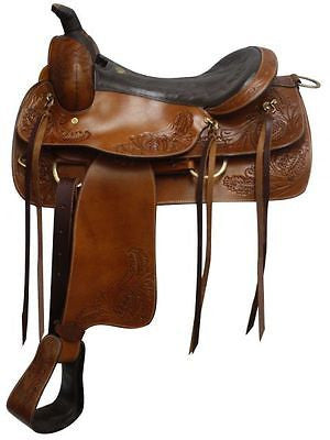 "16"" Double T Pleasure Style Saddle with Top Grain Leather Seat. MPN 615016"