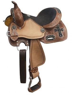 "10"", 12"" Double T youth barrel style saddle. MPN 555"
