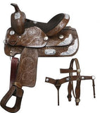 "13"" Double T Fully Tooled Youth / Pony Show Saddle Set. MPN 190213"