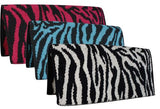 "Showman® 32"" x 32"" Reversible 100% New Zealand wool saddle blanket with zebra design"