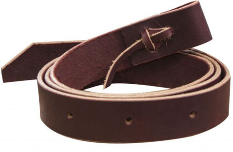 Showman™ 6' latigo tie strap with punched holes.