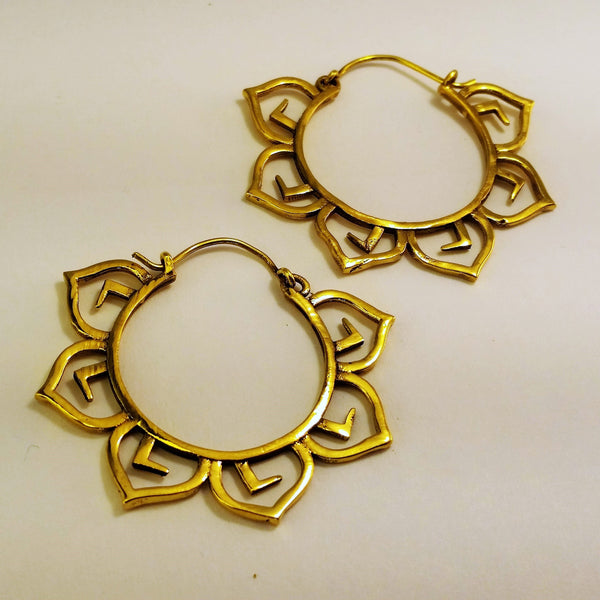 Lotus Brass Earrings BS-B136D