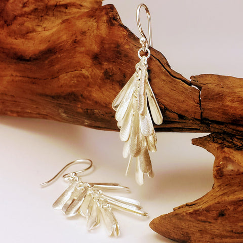 Elegant Chime Silver Dangle Drop Hook earrings