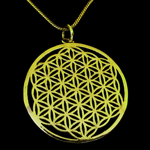 Sacred Geometry Brass Pendant - BP-A3