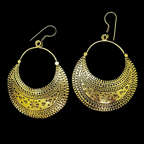 Indian Brass Earrings - BS-A93