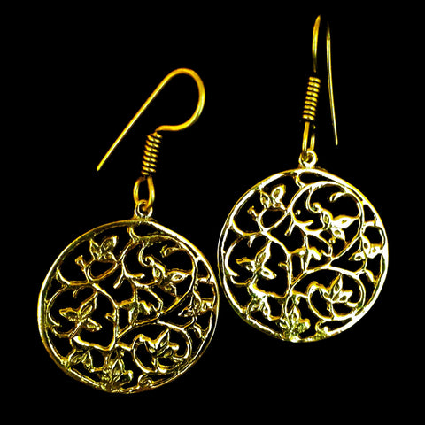 Indian Brass Earrings - BS-B140