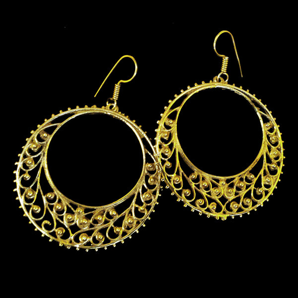 Indian Brass Earrings - BS-B146