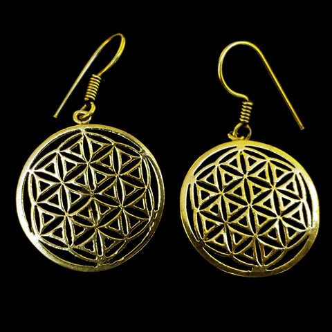 Indian Brass Earrings - BS-B17