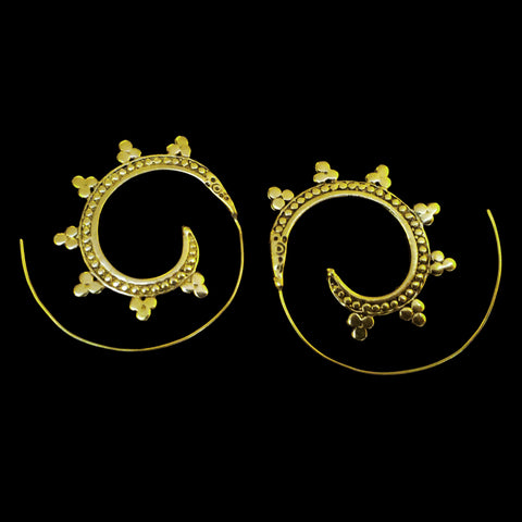 Indian Brass Earrings - BS-B28