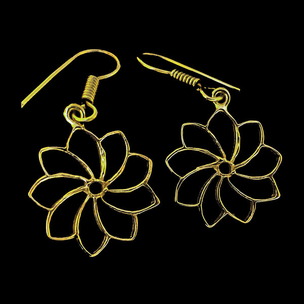 Indian Brass Earrings - BS-B86D