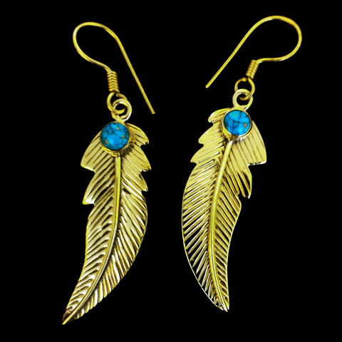 Indian Brass Earrings - BS-B98