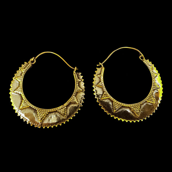Indian Brass Earrings - BS-B99