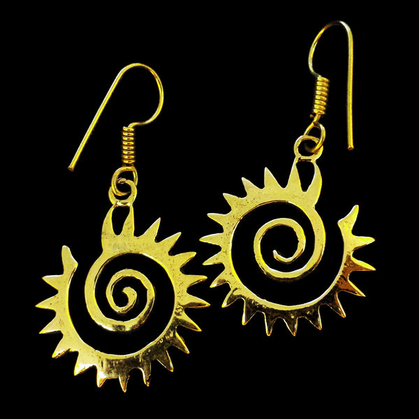 Indian Brass Earrings - BS-C134