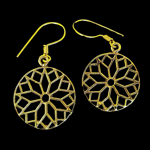 Indian Brass Earrings - BS-C29
