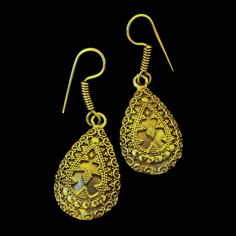Indian Brass Earrings - BS-C68 Bali
