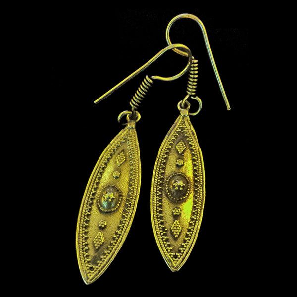Indian Brass Earrings - BS-C69