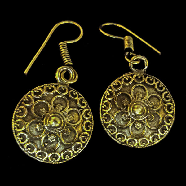 Indian Brass Earrings - BS-C71 Bali