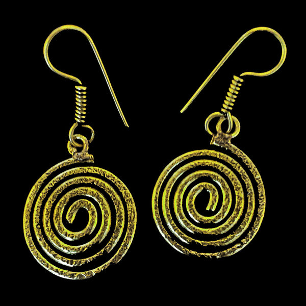 Indian Brass Earrings - BS-C81