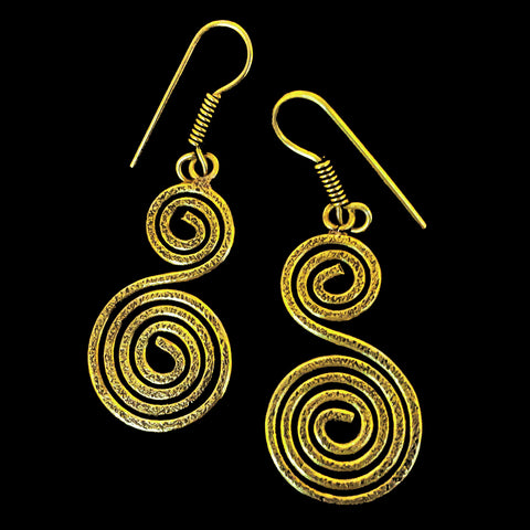 Indian Brass Earrings - BS-C82