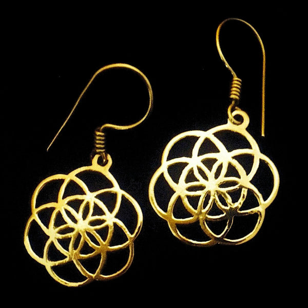 Indian Brass Earrings - BS-C9