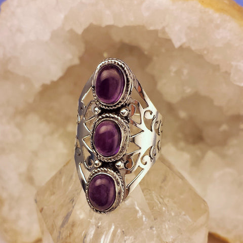 Indian Floral design With Amethyst  GR-A5