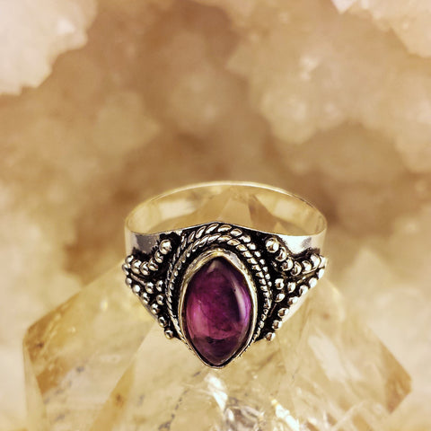 Indian Traditional Design Ring With Amethyst   GR-B16