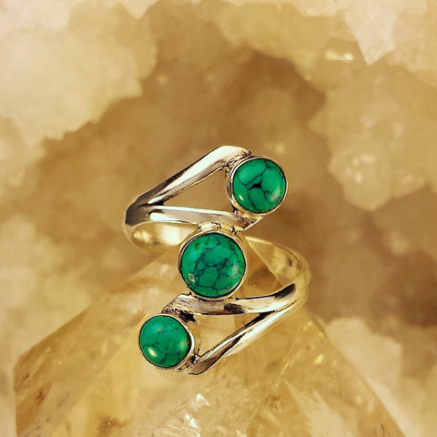 Turquoise Trio Ring    GR-B18