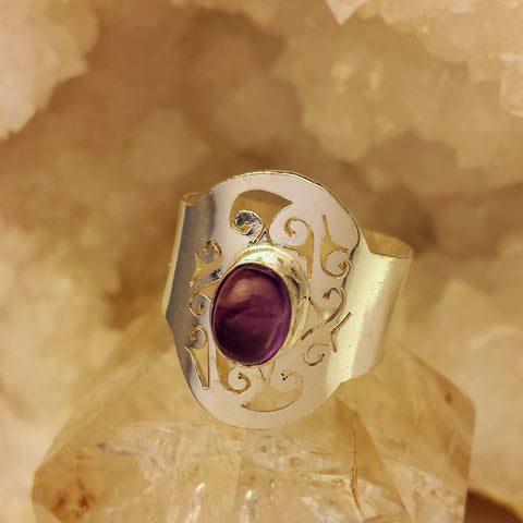 Indian Design With Amethyst    GR-B19