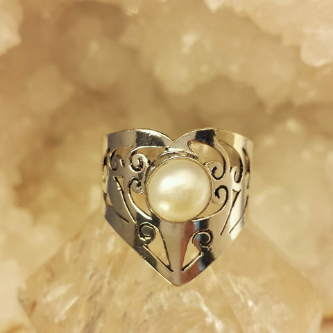 Indian Design Ring With Pearl  GR-B8