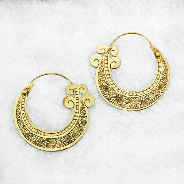 Indian Brass Earrings - BS-A150