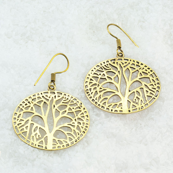 Indian Brass Earrings - BS-B35