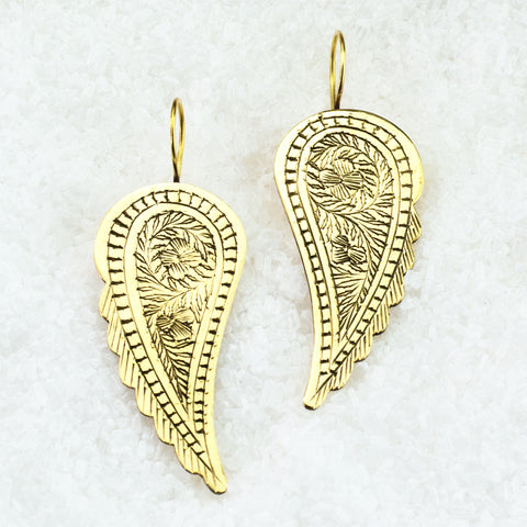 Indian Brass Earrings - BS-A600