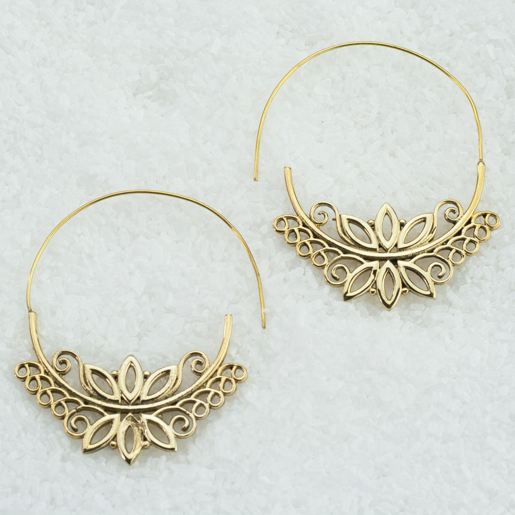 Indian Brass Earrings - BS-B504