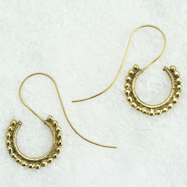 Indian Brass Earrings - BS-B22