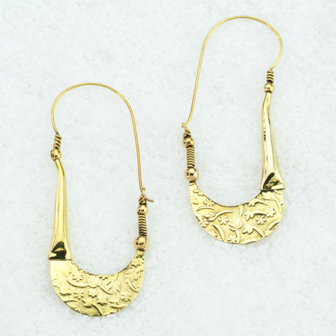 Indian Brass Earrings - BS-A602