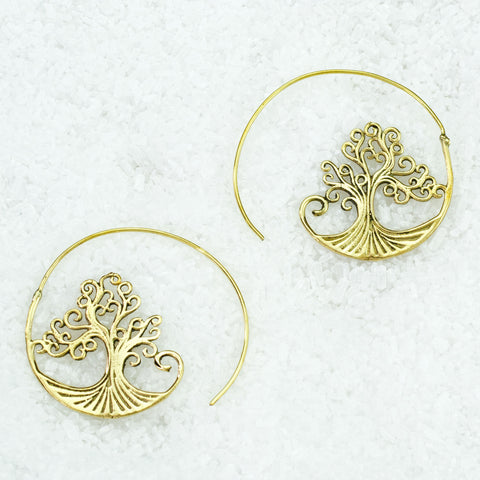 Indian Brass Earrings - BS-B505