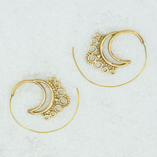 Indian Brass Earrings - BS-B109