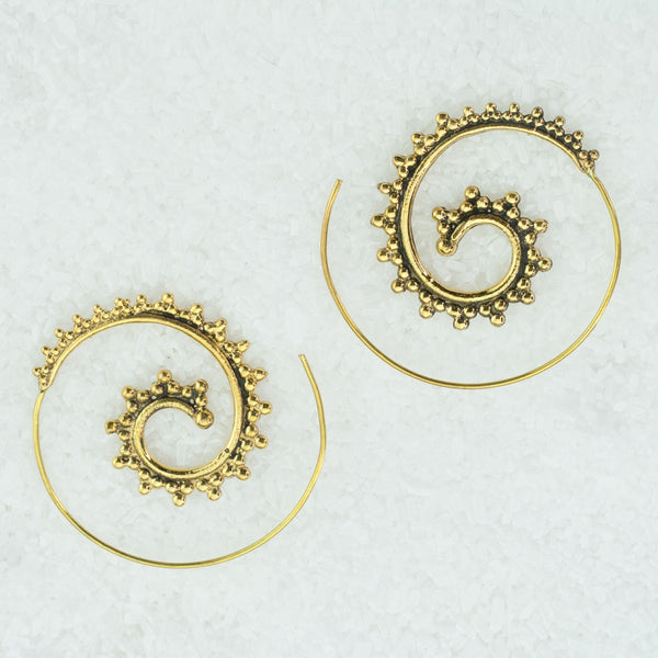 Indian Brass Earrings - BS-B506