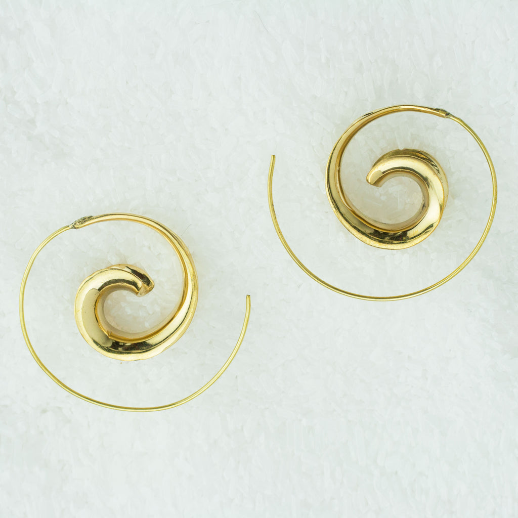 Indian Brass Earrings - BS-B13