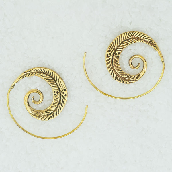 Indian Brass Earrings - BS-C7