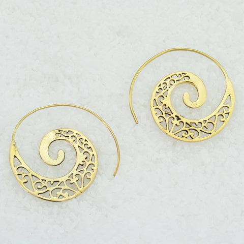 Indian Brass Earrings - BS-C90