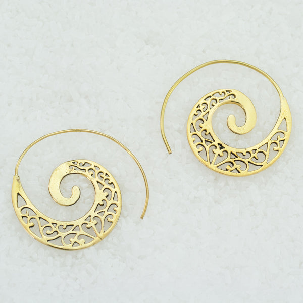 Spiral Brass Earrings - BS-C90