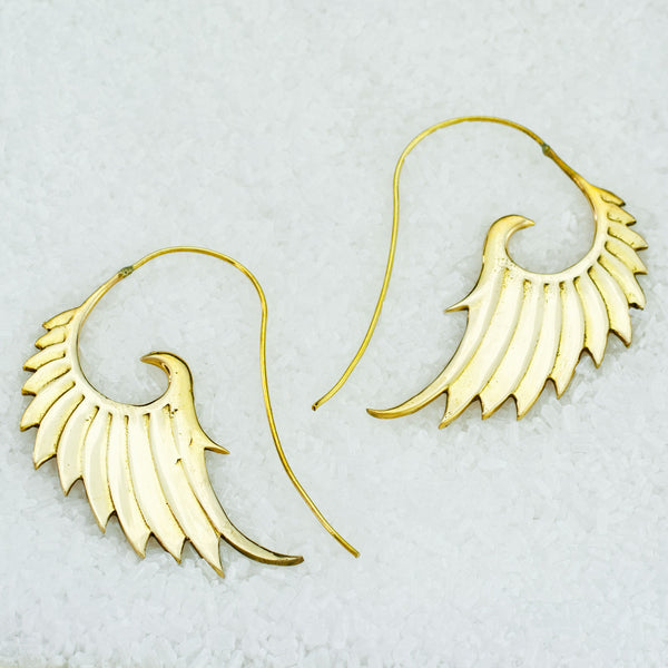 Indian Brass Earrings - BS-A603