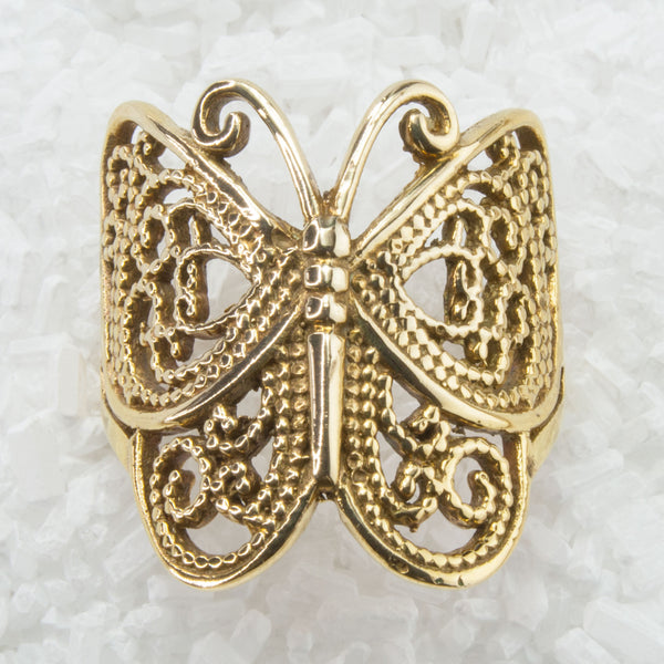 Butterfly Brass Ring Filigree Inspired BR-B13