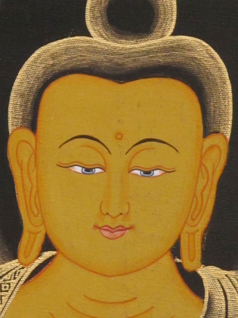 Medicine Buddha, Gold on Black 19.5