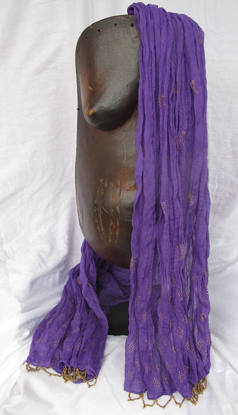 Gold on Purple, Lotus Scarf